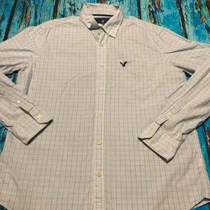 💙 American Eagle Button Down Shirt Size Large